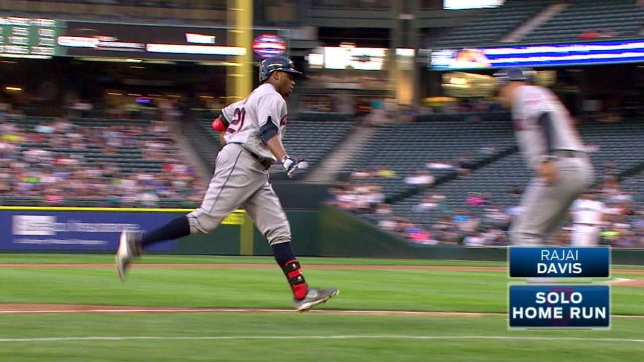 Tribe wins 6th straight as Bauer rolls in Seattle
