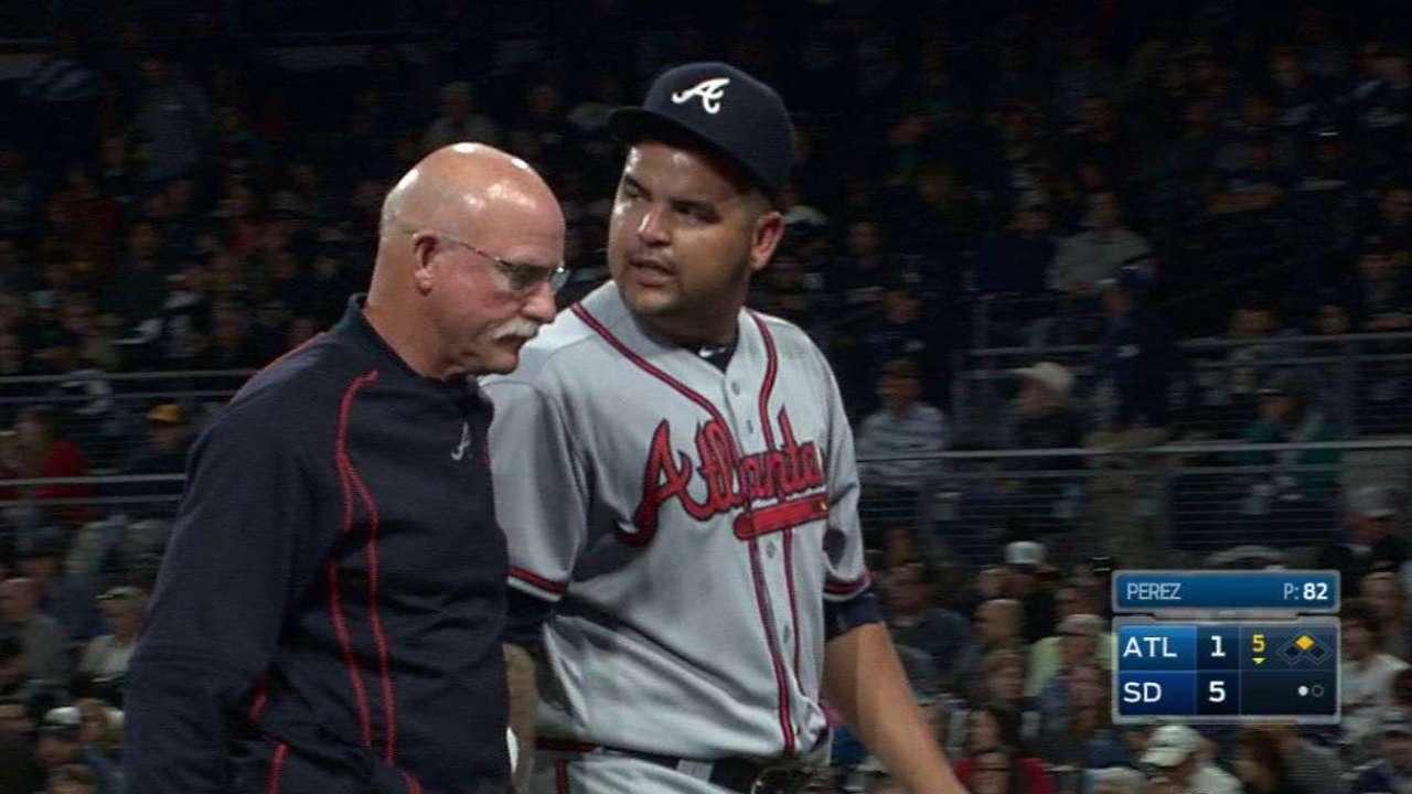 Braves' Perez hopeful for minimum DL stay