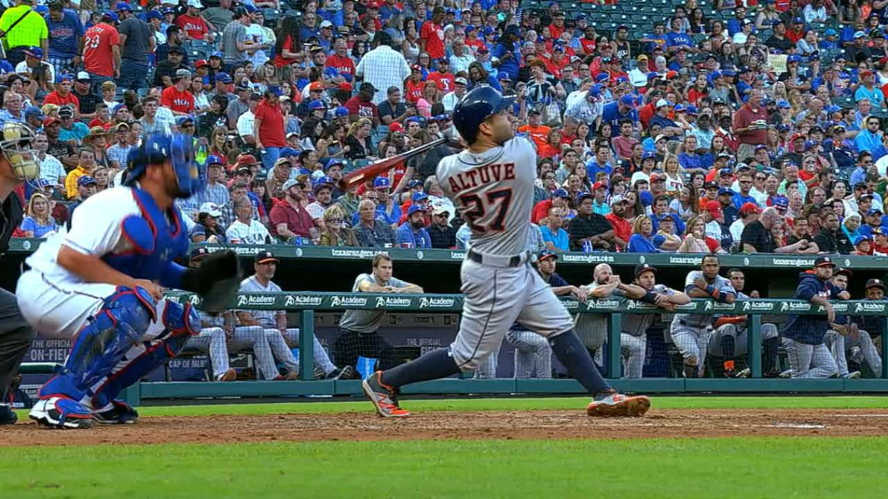 Altuve builds lead at 2B in AL All-Star balloting