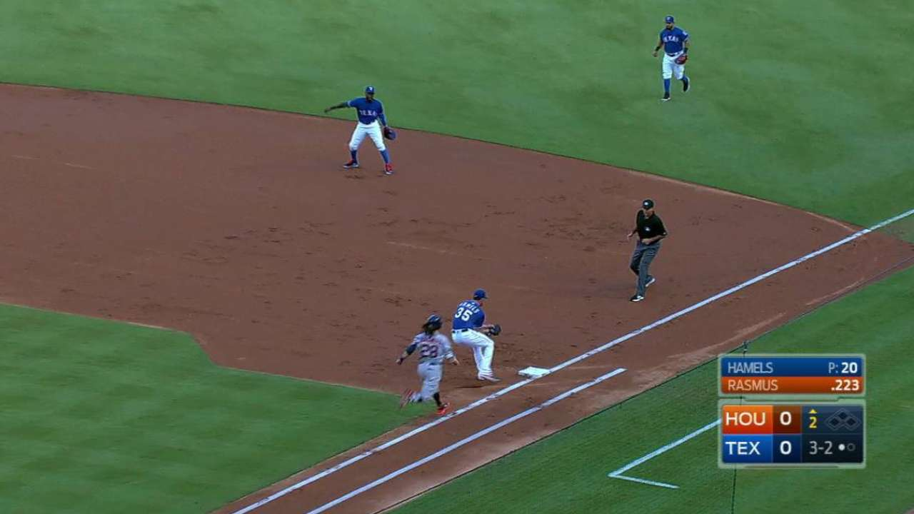 Profar shines in first look at first base