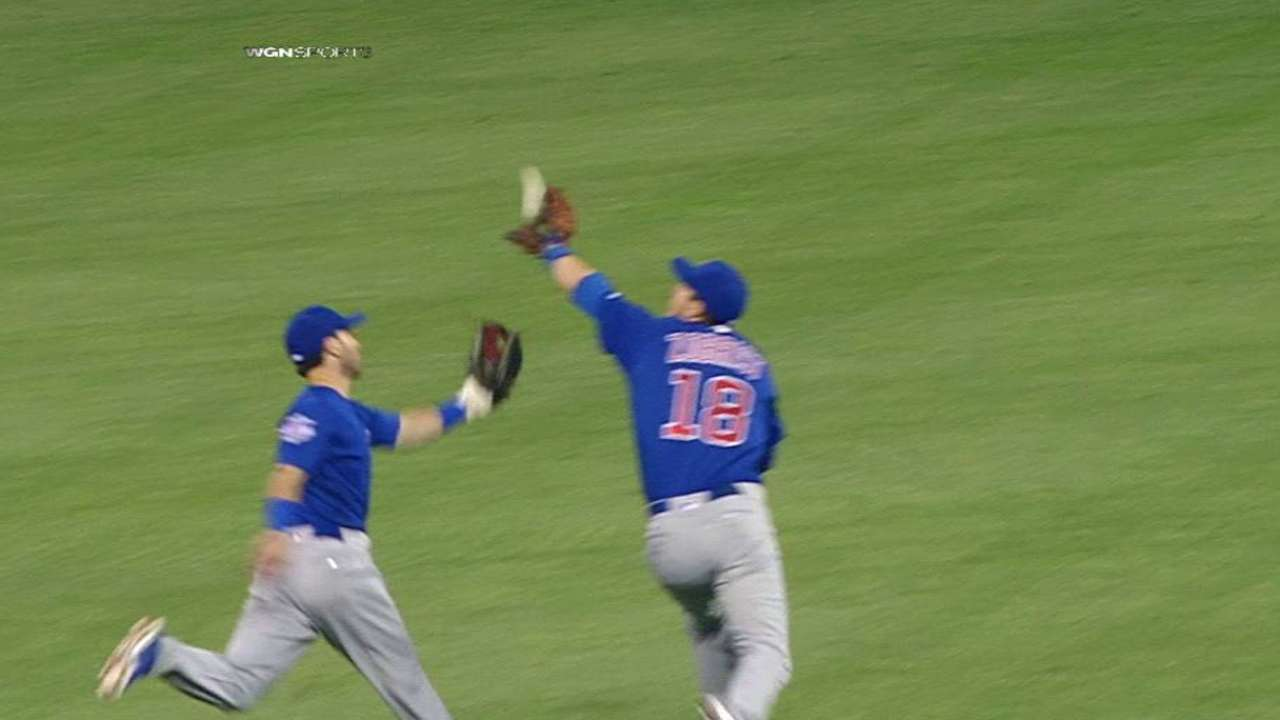 Zobrist's running catch