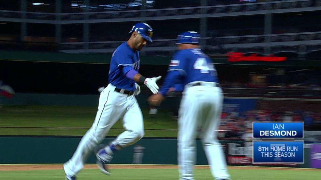 Desmond extends Rangers' reign over Astros