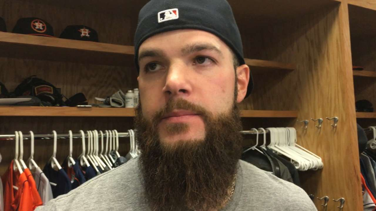 Keuchel pleased with command despite loss