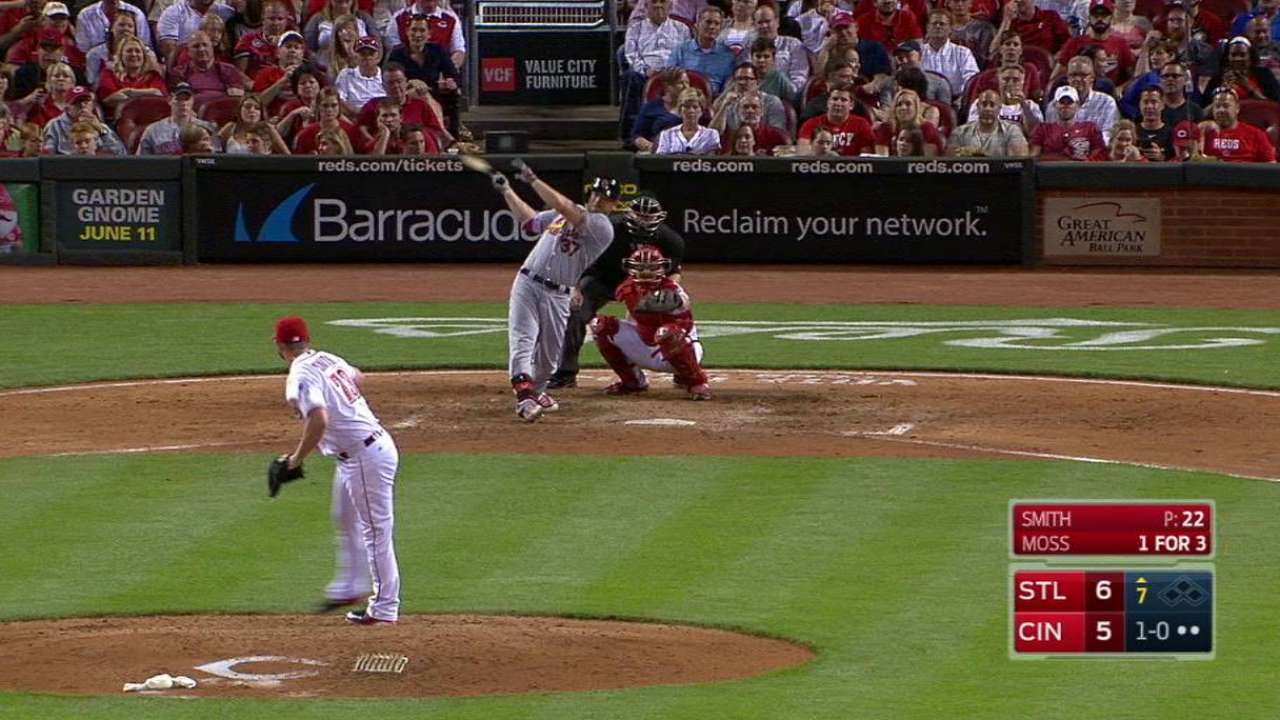Moss displays monster power with 2-HR game