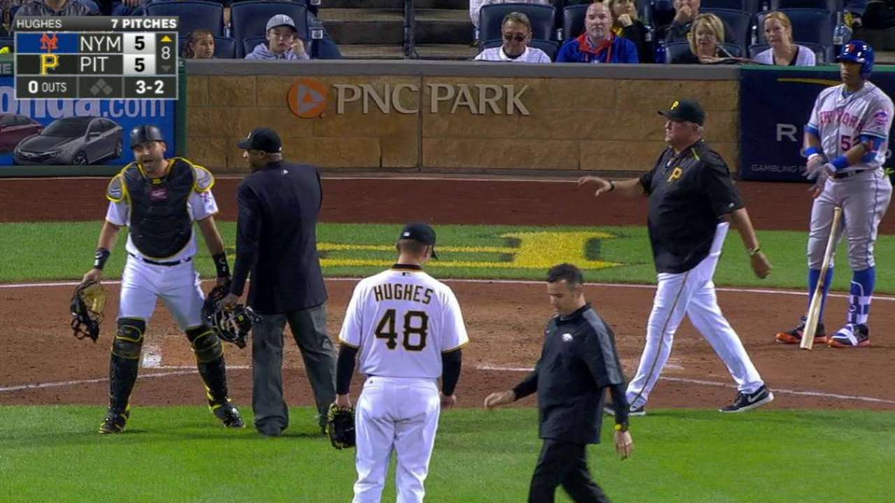 Benches get warned in the 8th