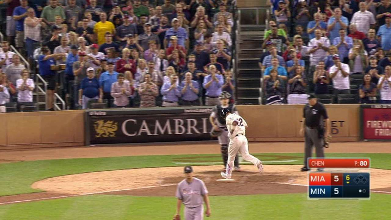 Park homers to tie game