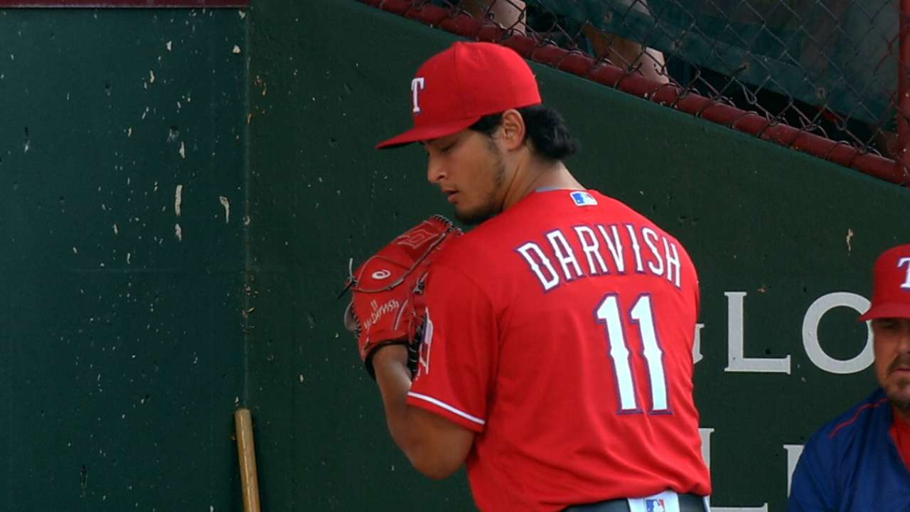 Darvish fans seven in outing