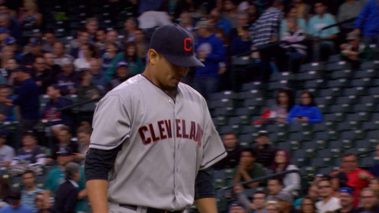 Carrasco's night marred by two mistake pitches