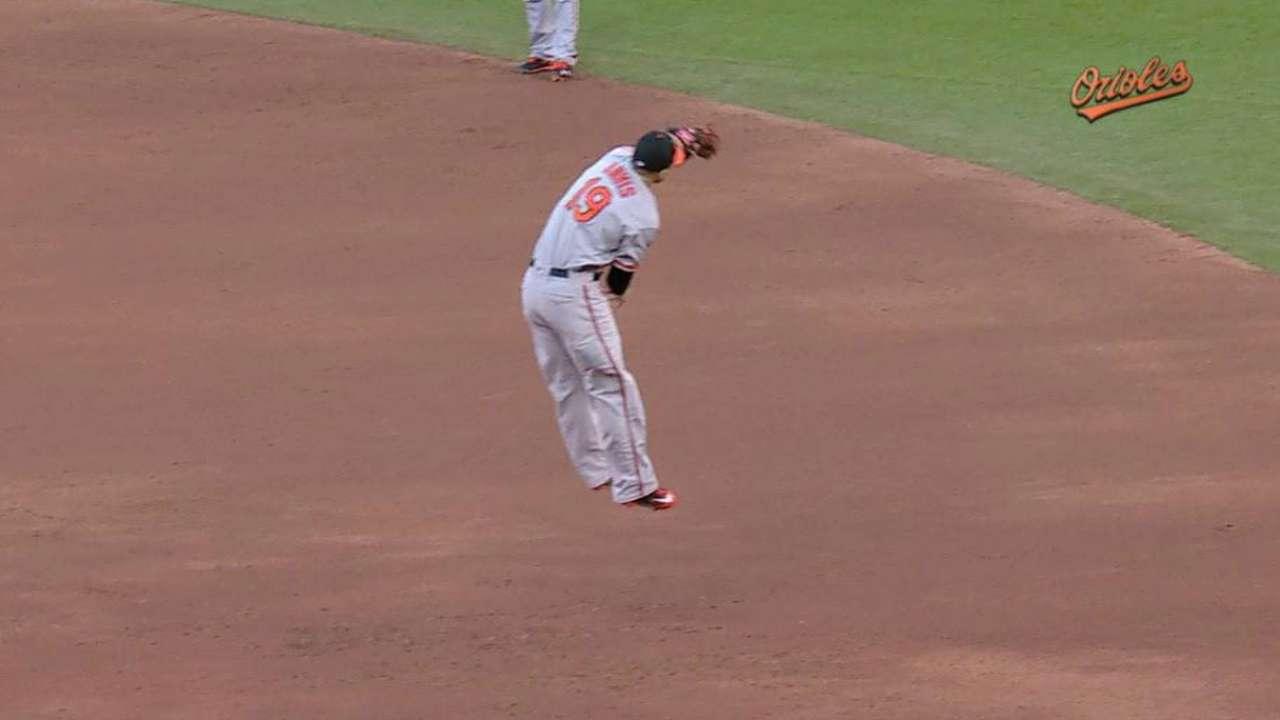 Davis' impressive leaping grab