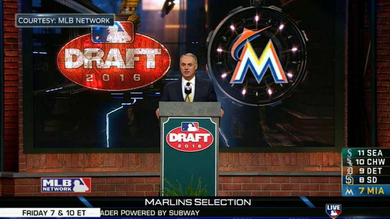 Hill on Marlins' pick of Garrett