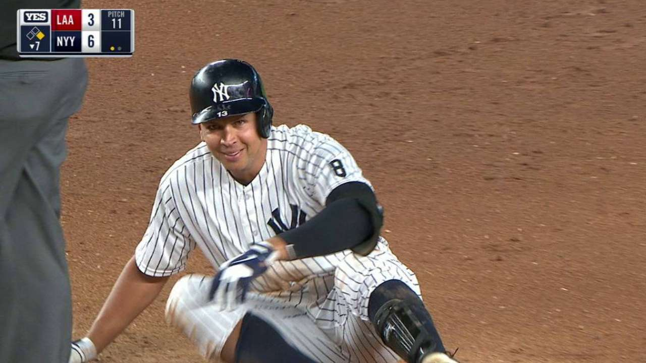 A-Rod's RBI double