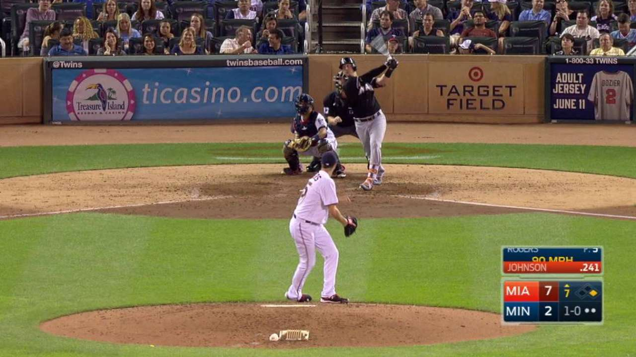 Johnson's two-run homer