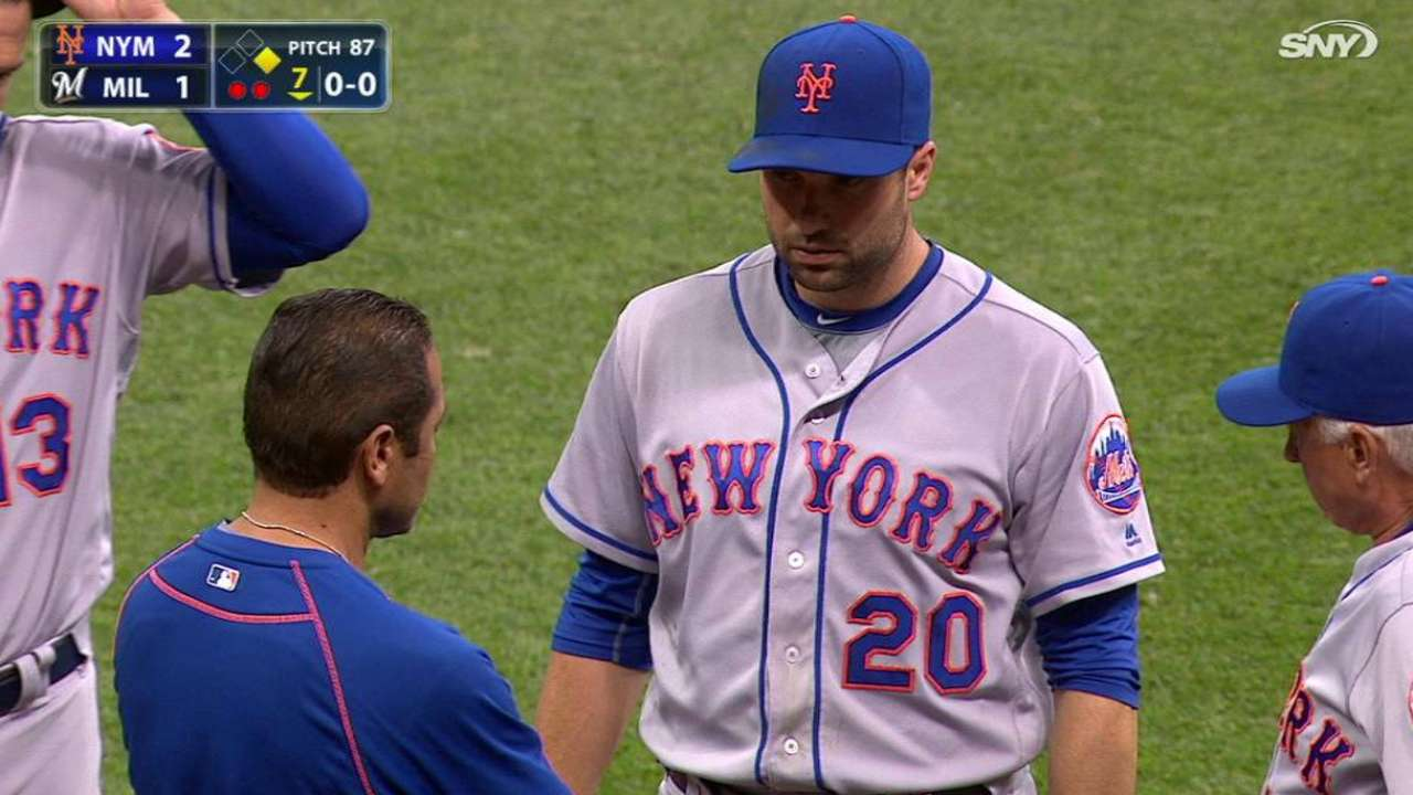 Walker day to day after taking liner to chest