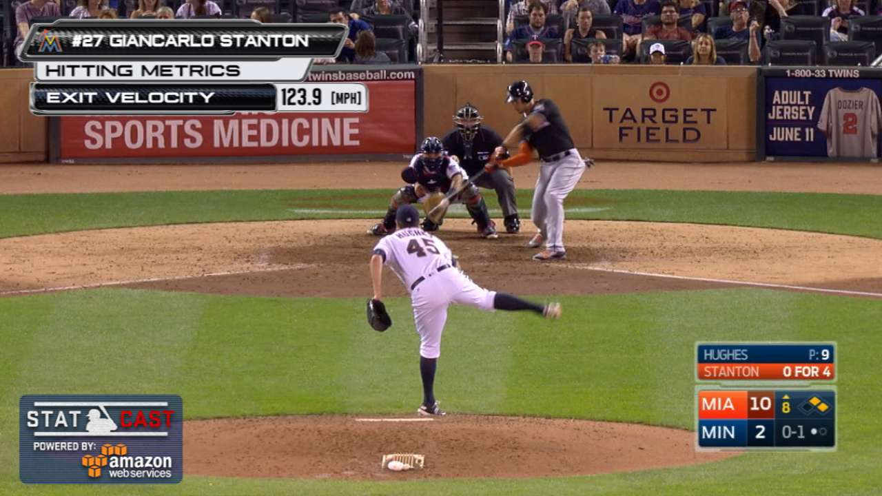 Statcast: Stanton's hot grounder