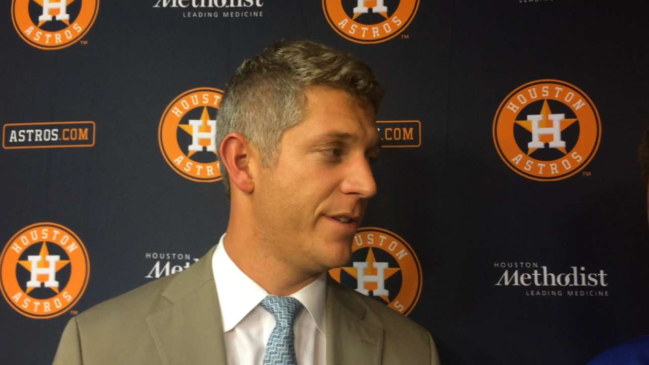 Astros sign 5 Draft picks, waiting on Whitley