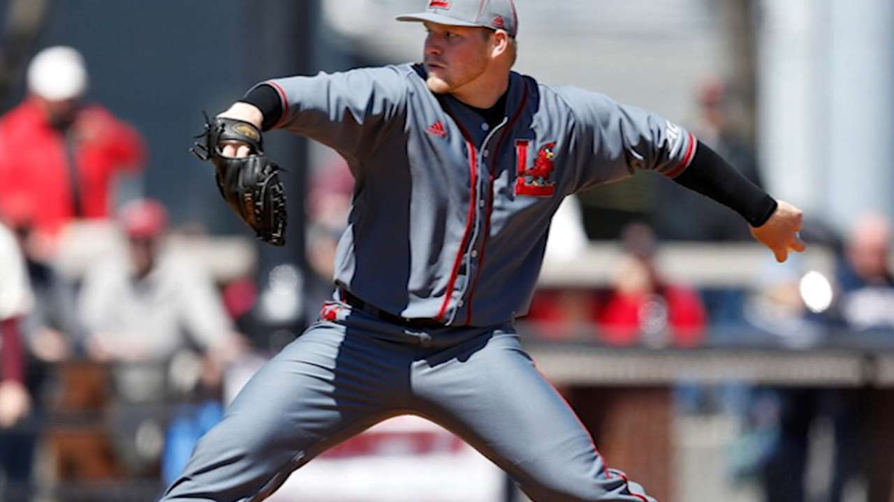 Braves pick Louisville lefty Harrington in 3rd round