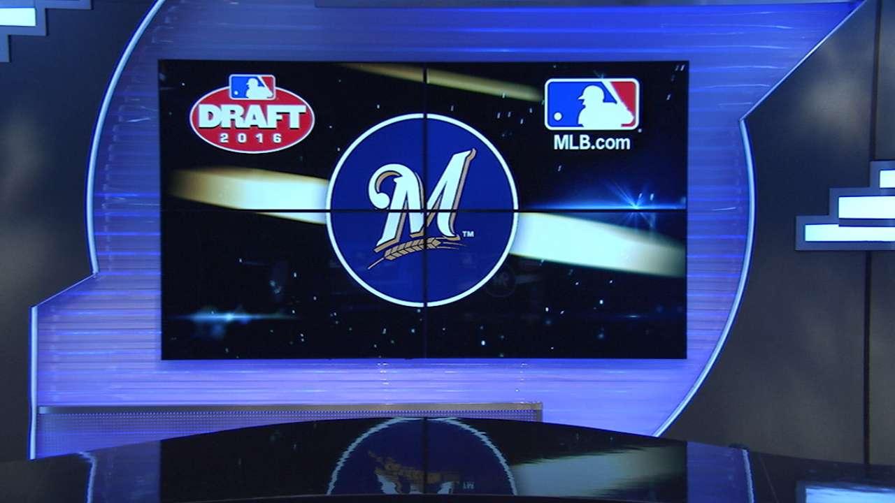 Brewers draft RHP Webb No. 82