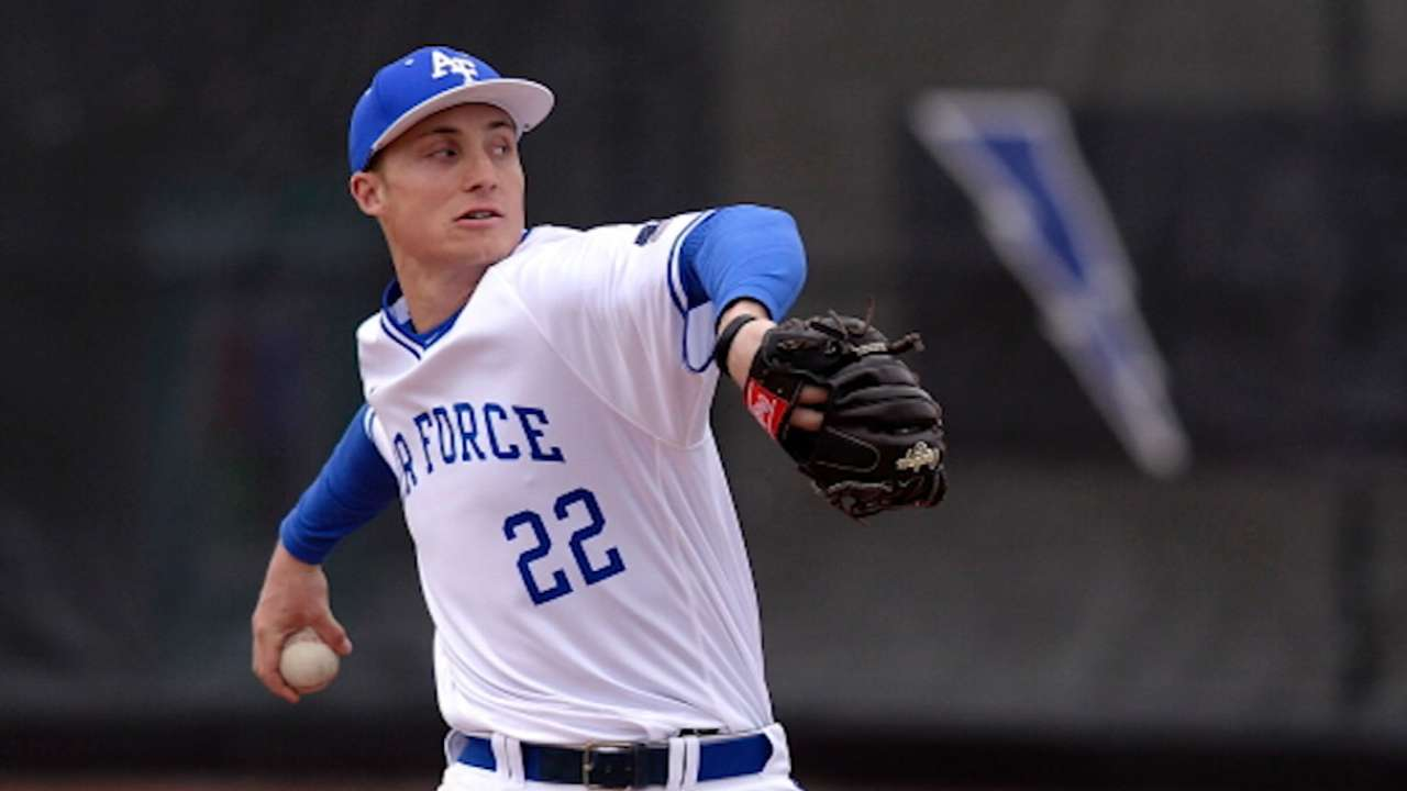 Jax vying to be first Air Force player in MLB