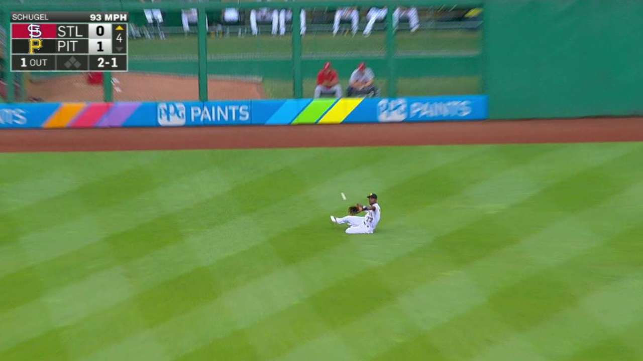 McCutchen's great grab in center