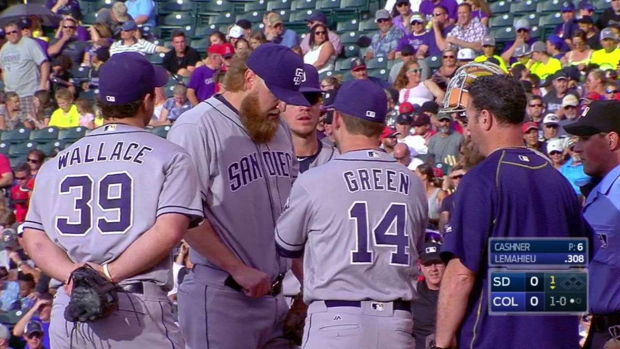 Cashner exits with injury