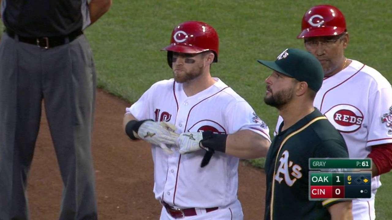 Barnhart ends Gray's no-hitter