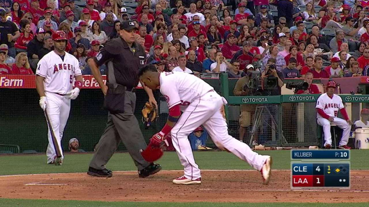 Trout's RBI groundout