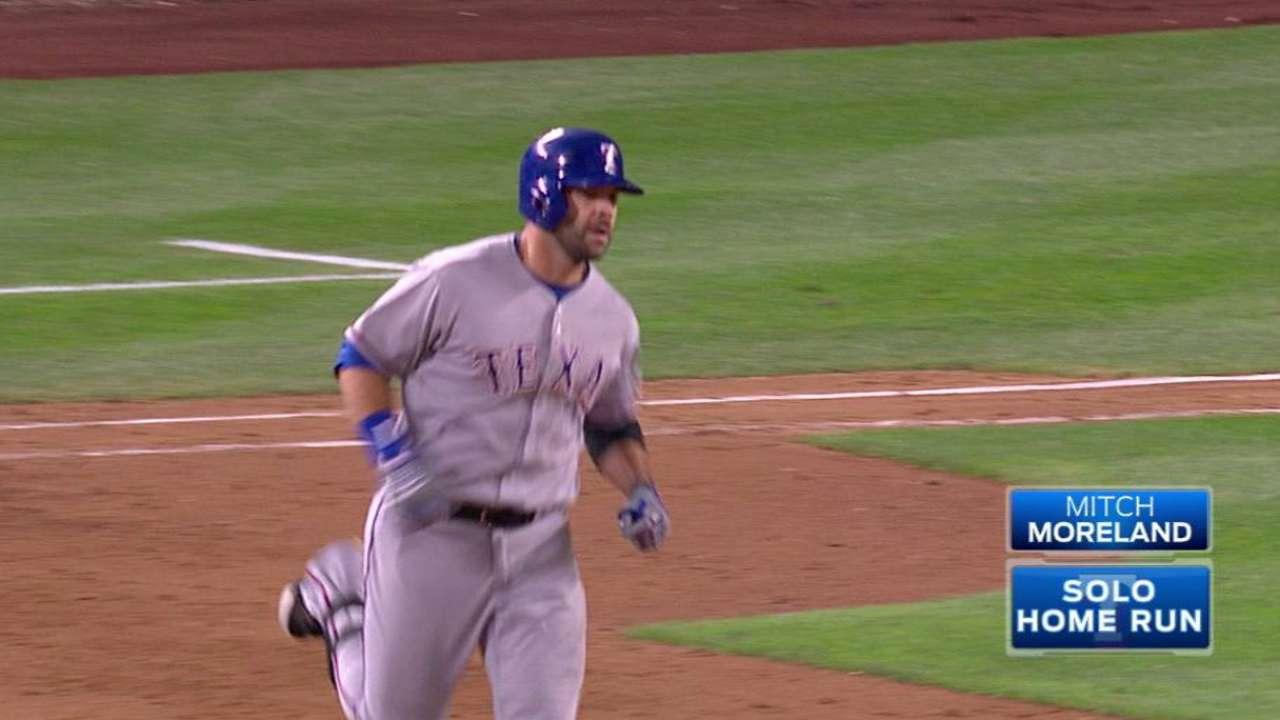Moreland hits his second homer