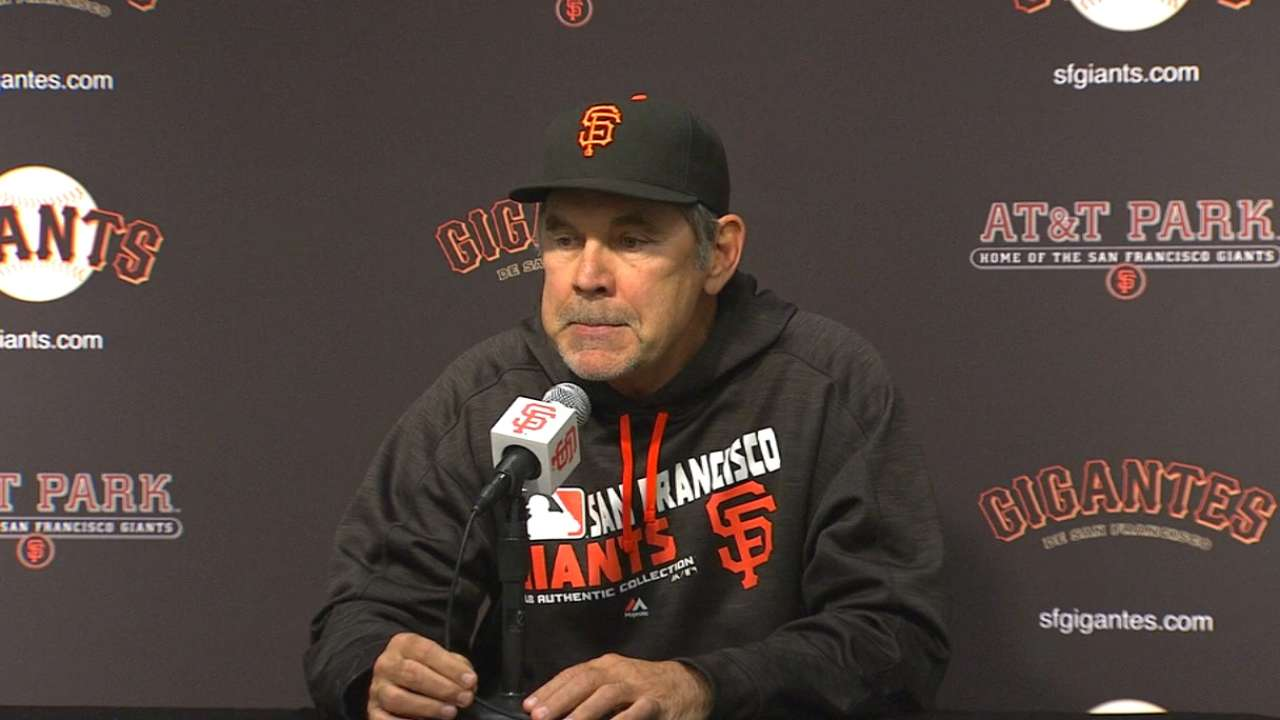 Bochy on loss to Dodgers