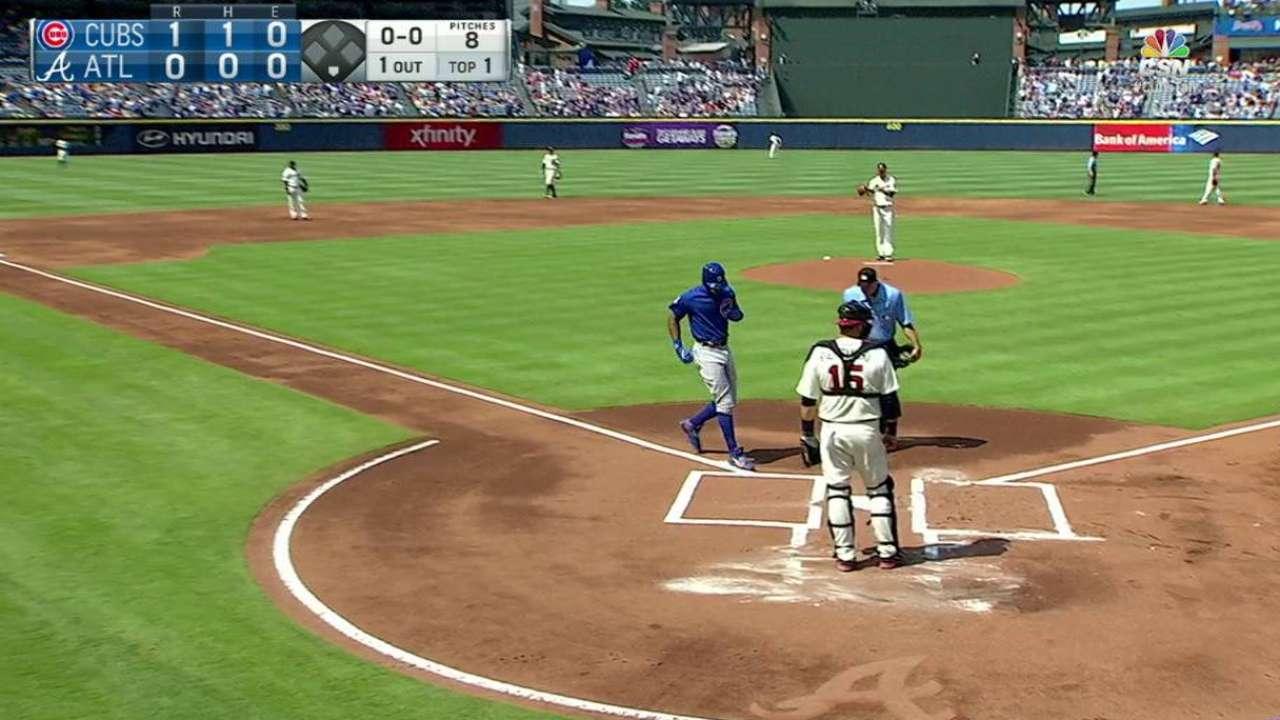 Heyward's solo home run