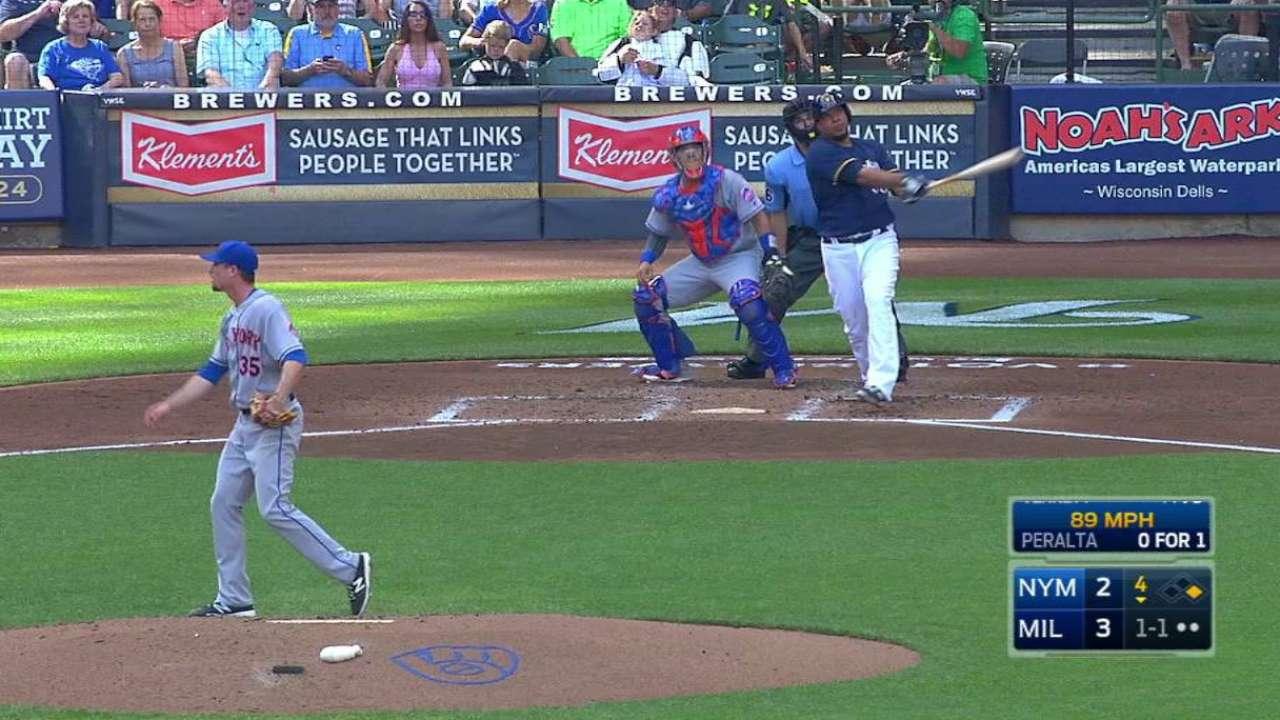 Wily Peralta venció a los Mets y además les conectó jonrón