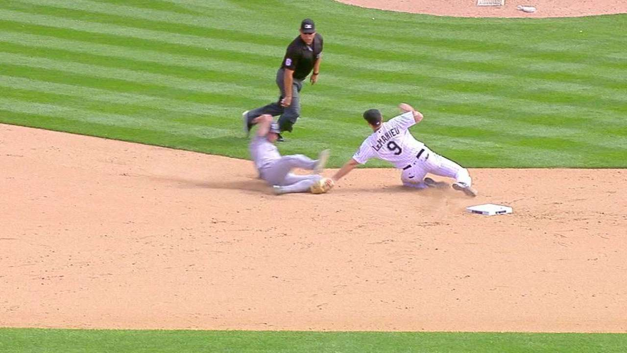 LeMahieu's catch and tag