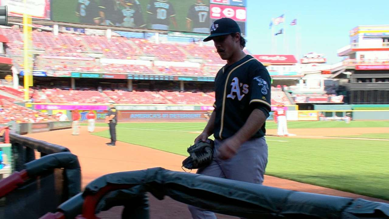 Mengden makes MLB debut