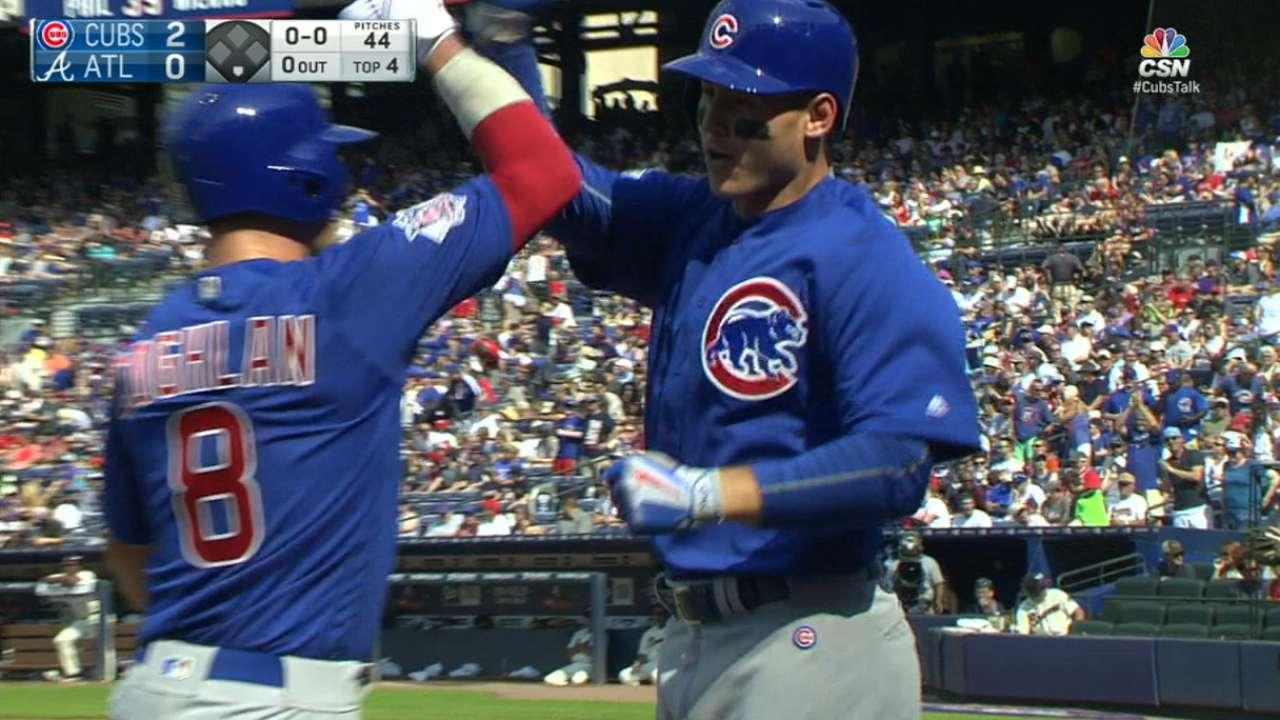 Cubs hit four home runs