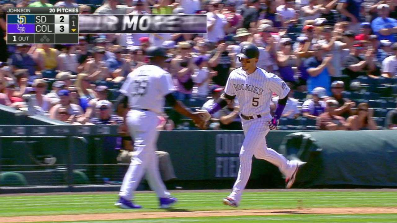 CarGo, Chatwood lead Rox over Padres