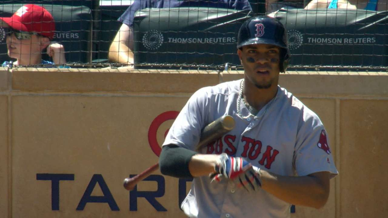 Bogaerts, Red Sox erupt late, blow out Twins