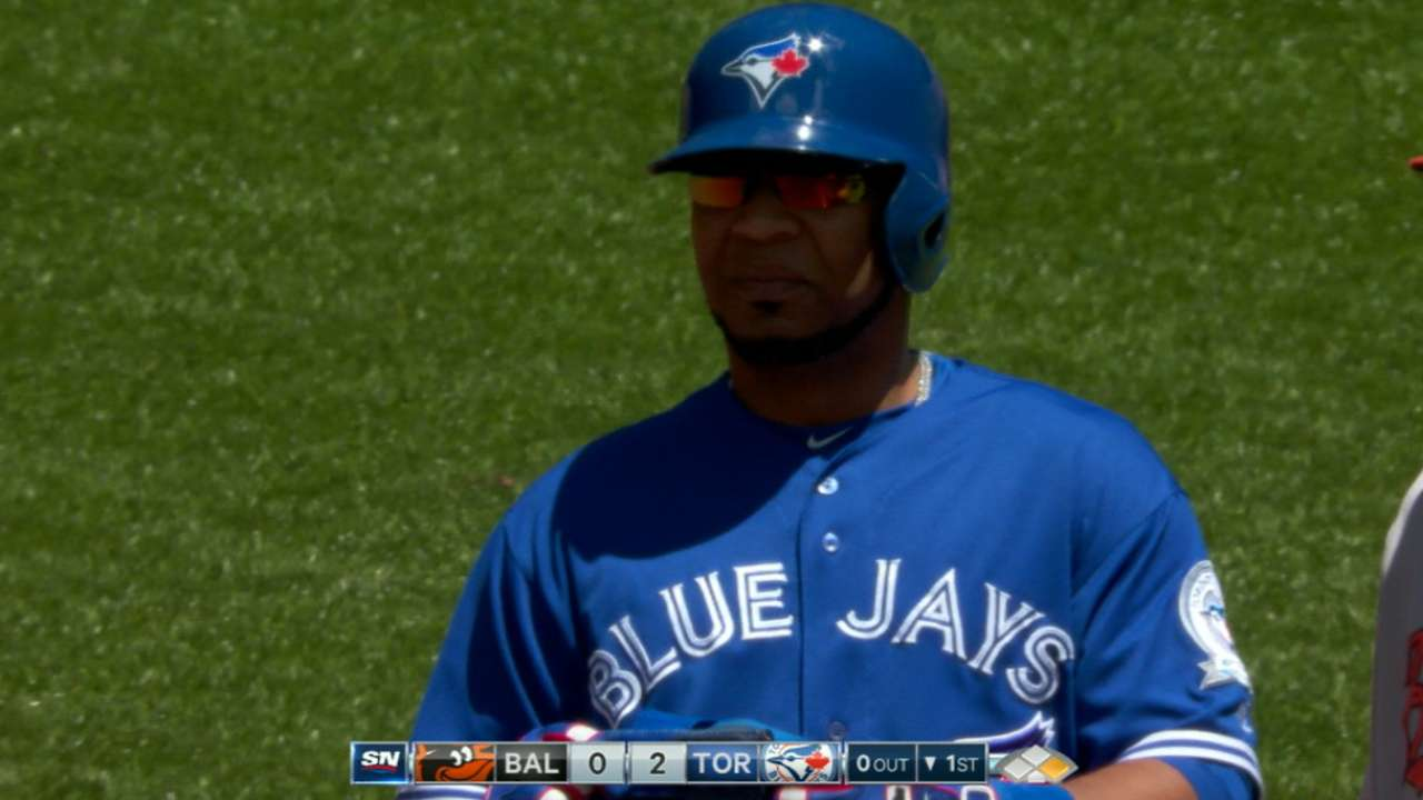 Blue Jays plate five in the 1st