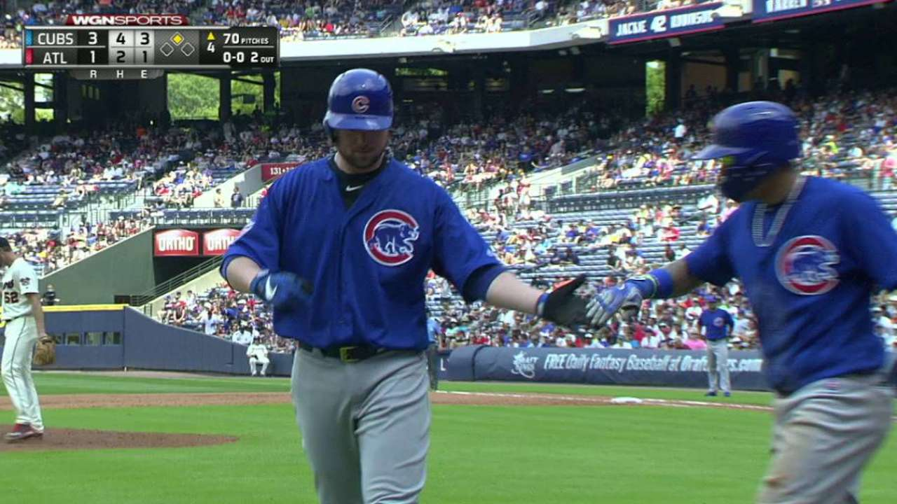 Lester's RBI squeeze bunt