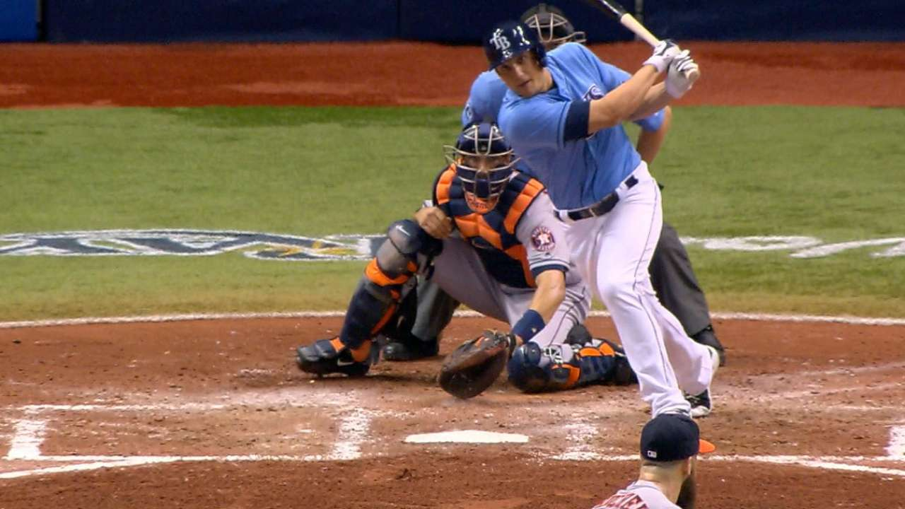 Rays take finale behind Moore, five-run fifth