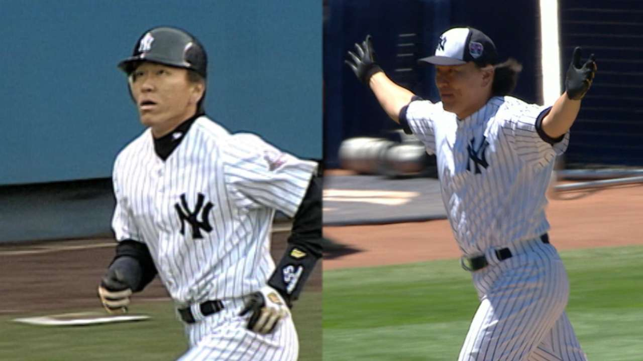 Matsui's birthday includes Old-Timers' Day HR