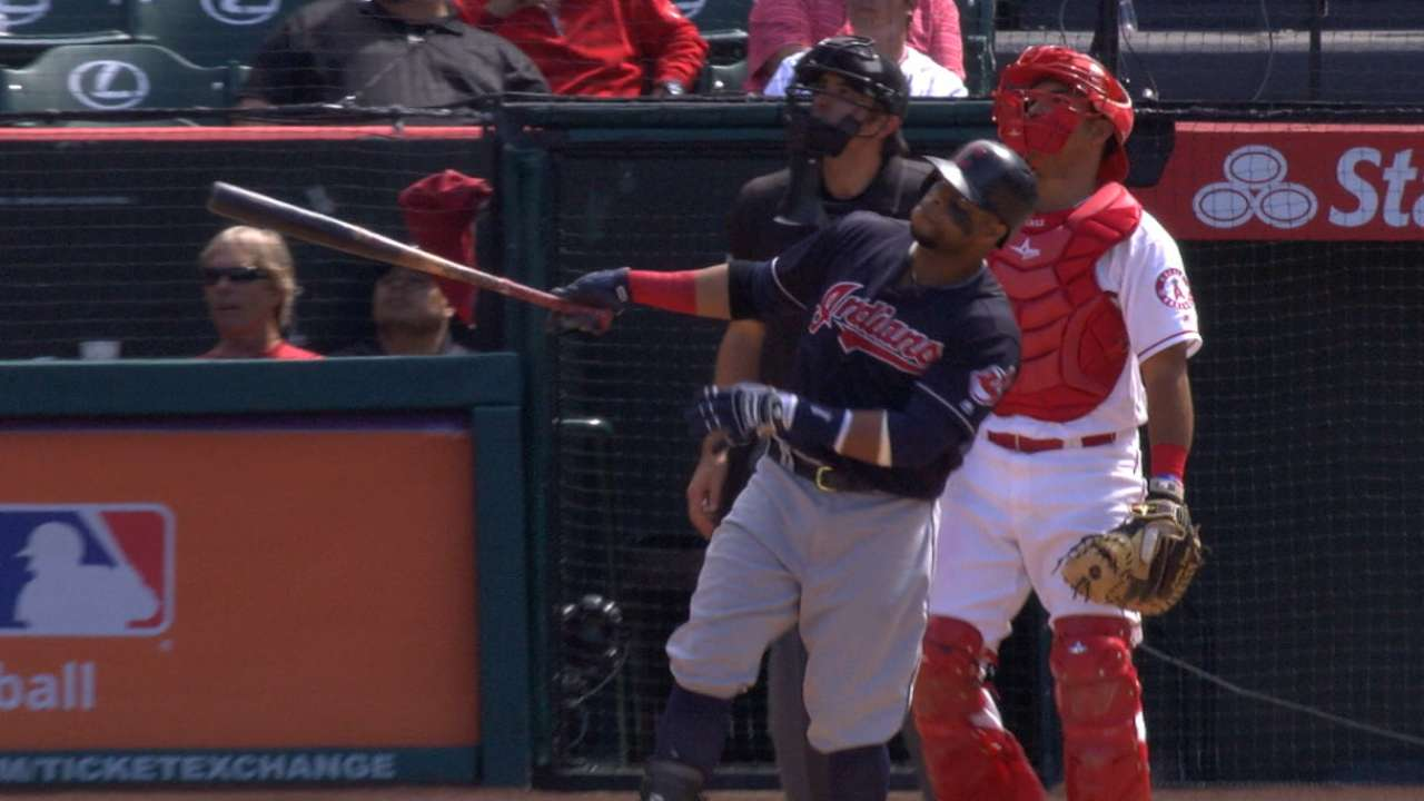 Santana homers from each side as Indians roll