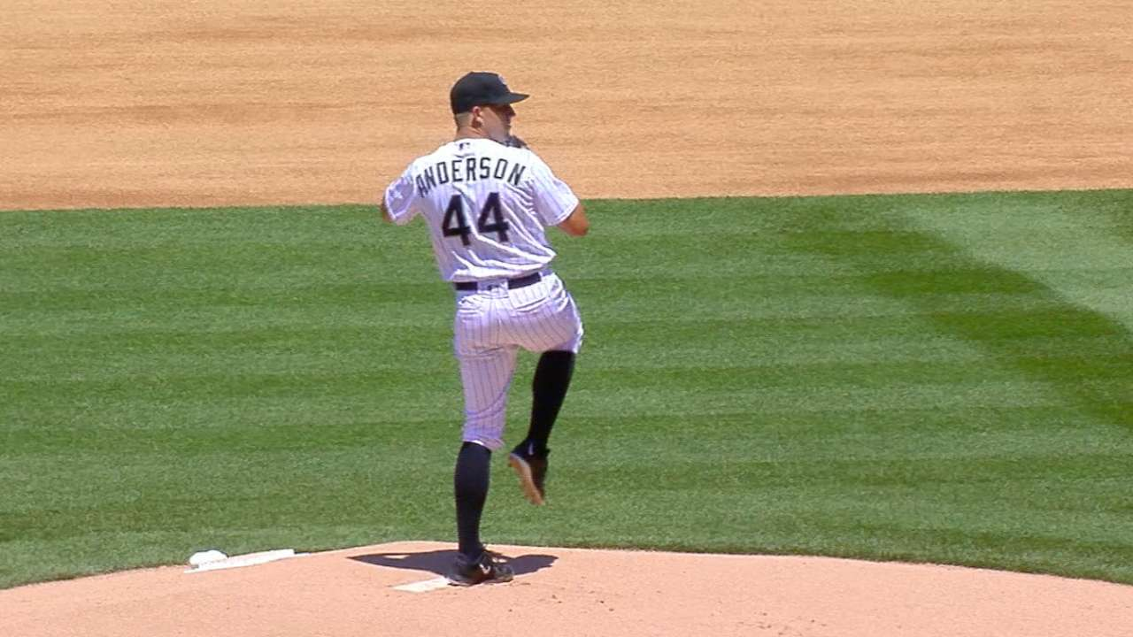 Anderson's excellent MLB debut