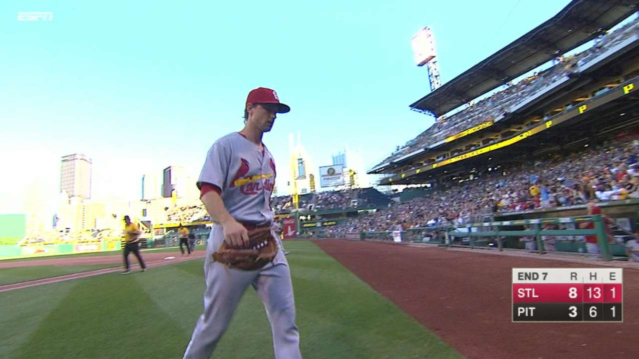 Leake strikes out six in win