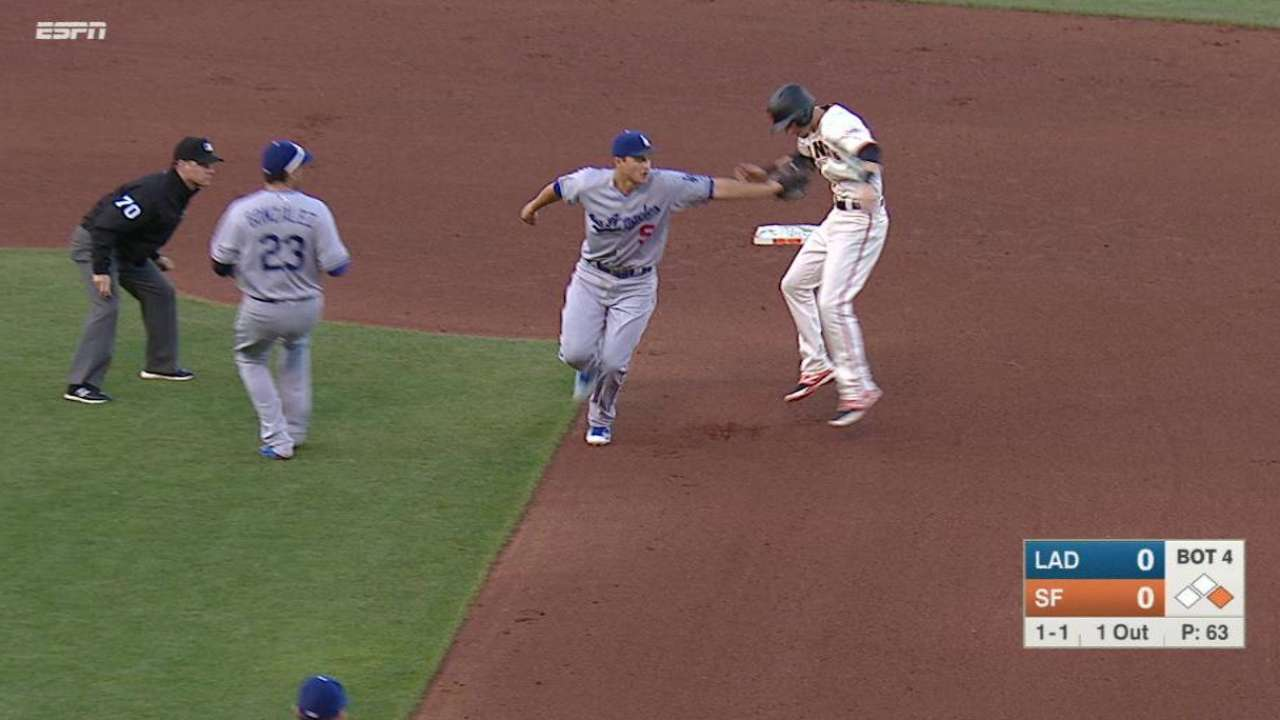 Urias showing elite skill at picking off runners