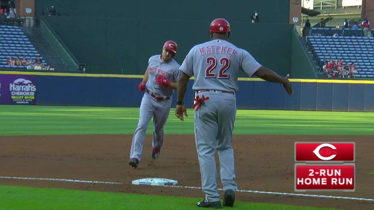 Reds take back-and-forth slugfest vs. Braves