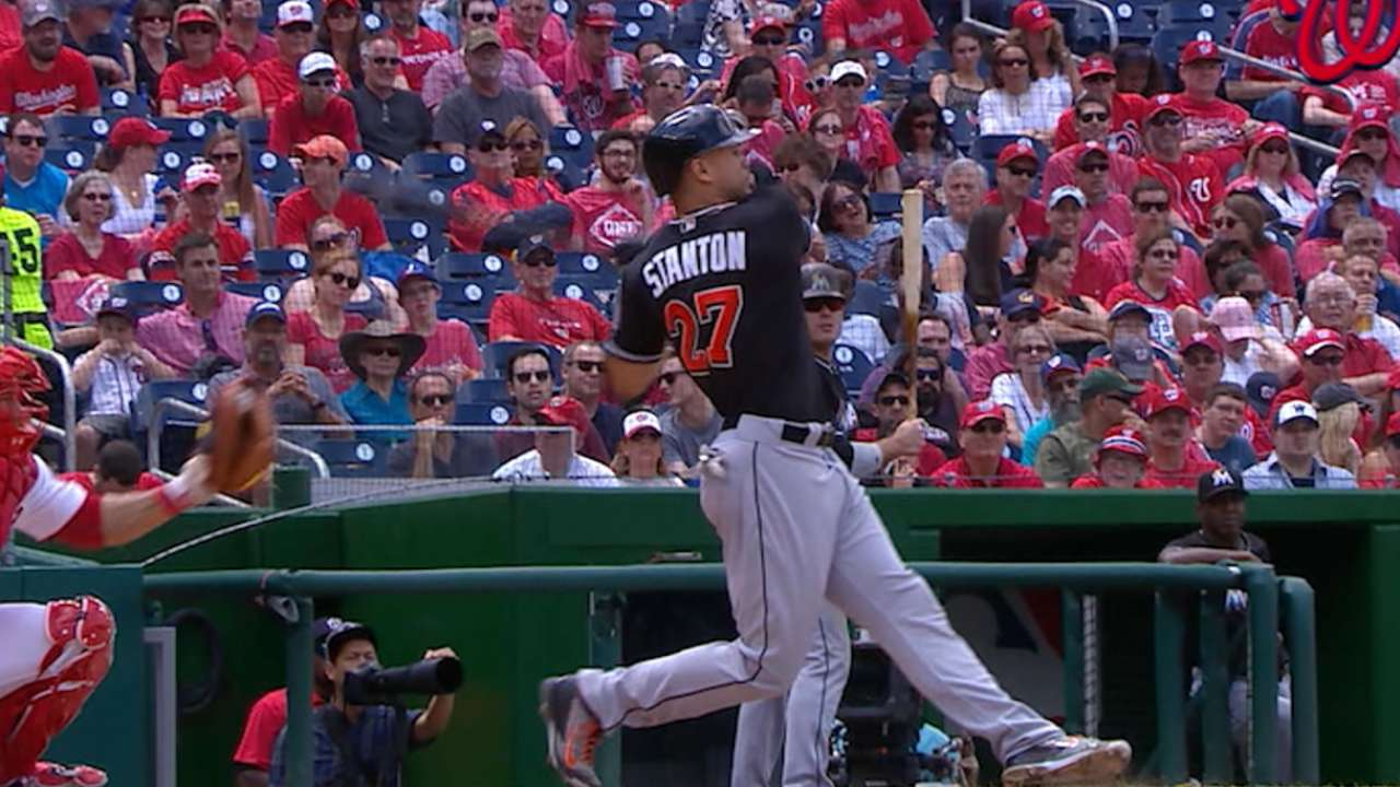 Slumping Stanton sits in favor of Ichiro