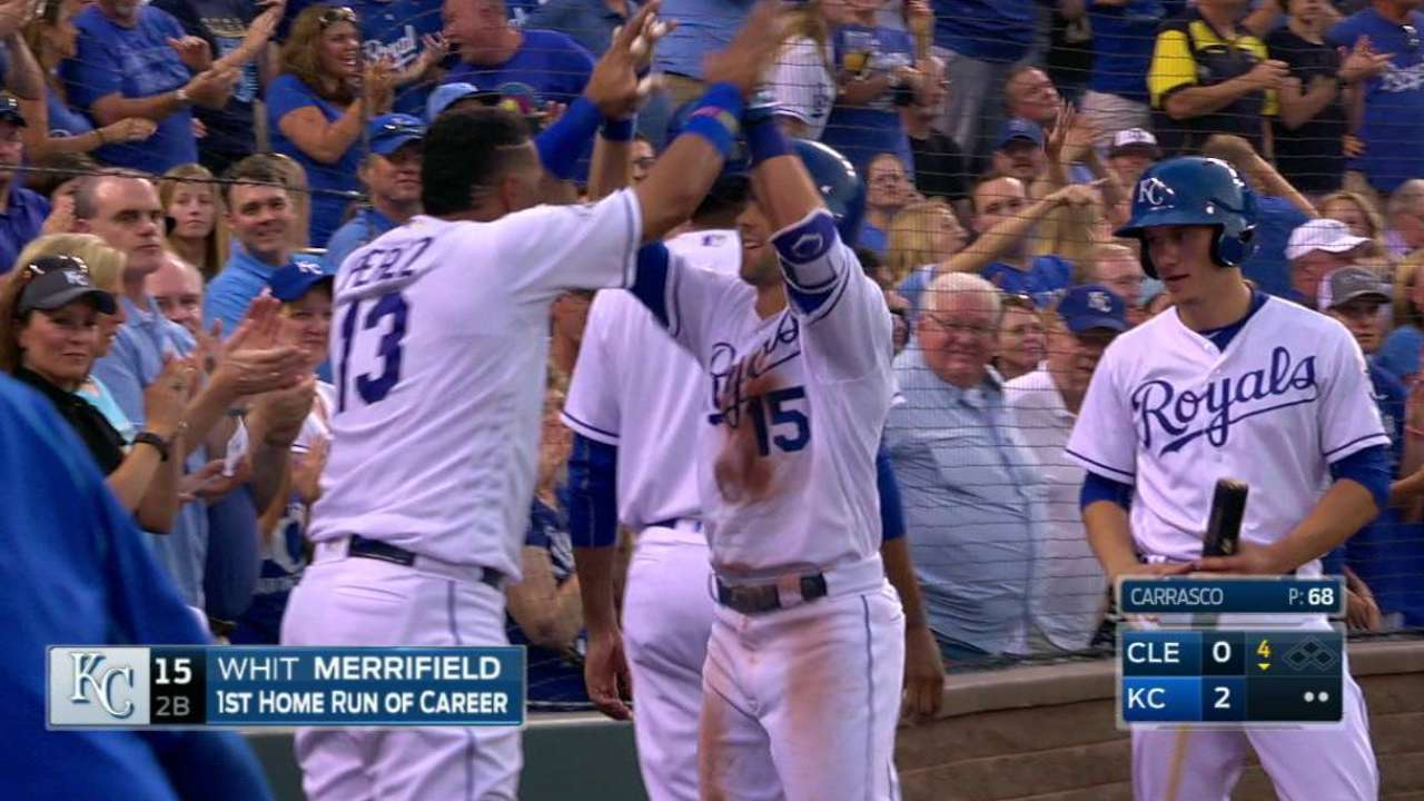 Merrifield's first career homer