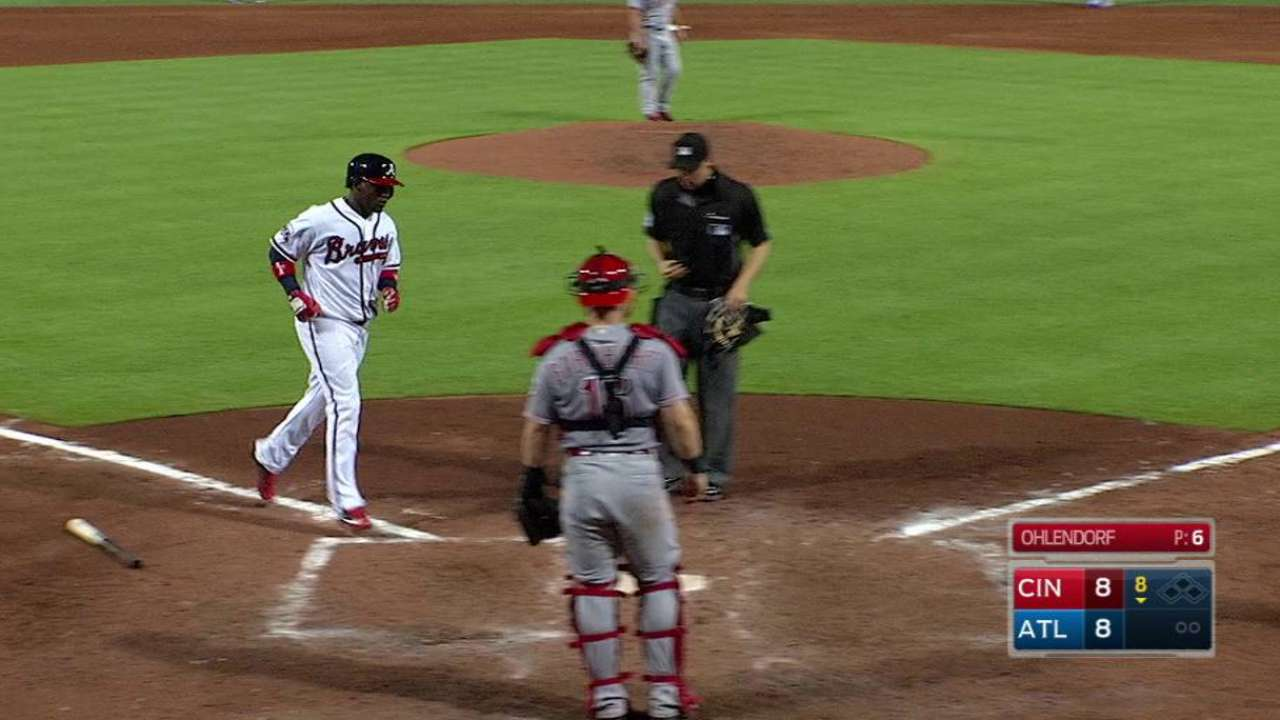 Garcia's game-tying solo shot