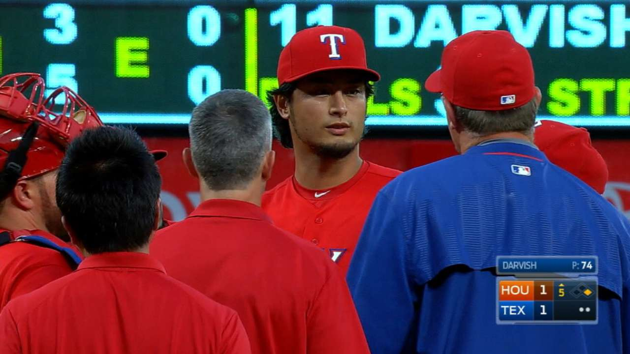 Ramos has rough night filling in for Darvish