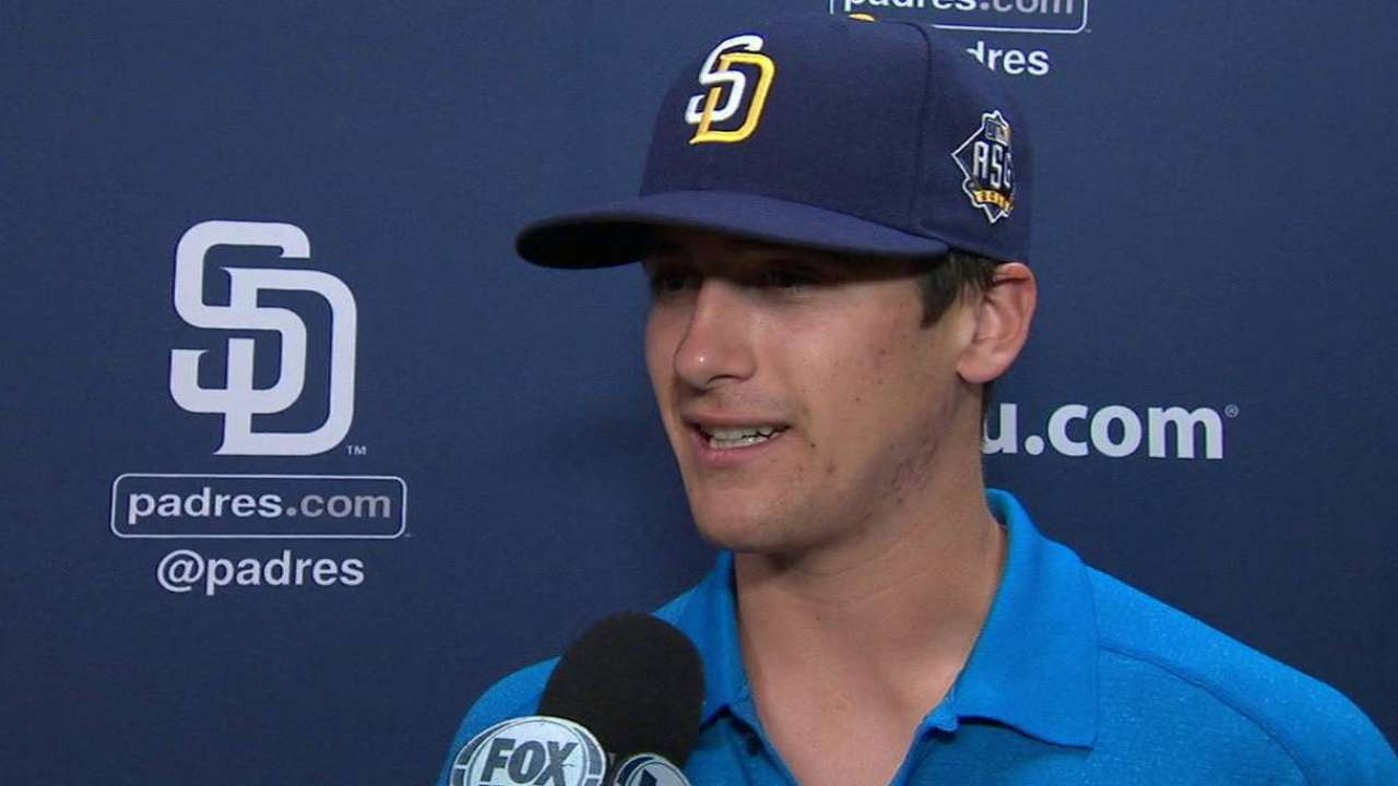 Quantrill works out at Petco