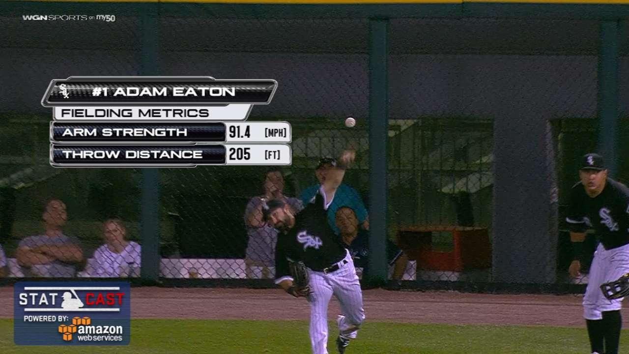 Statcast: Eaton's laser throw